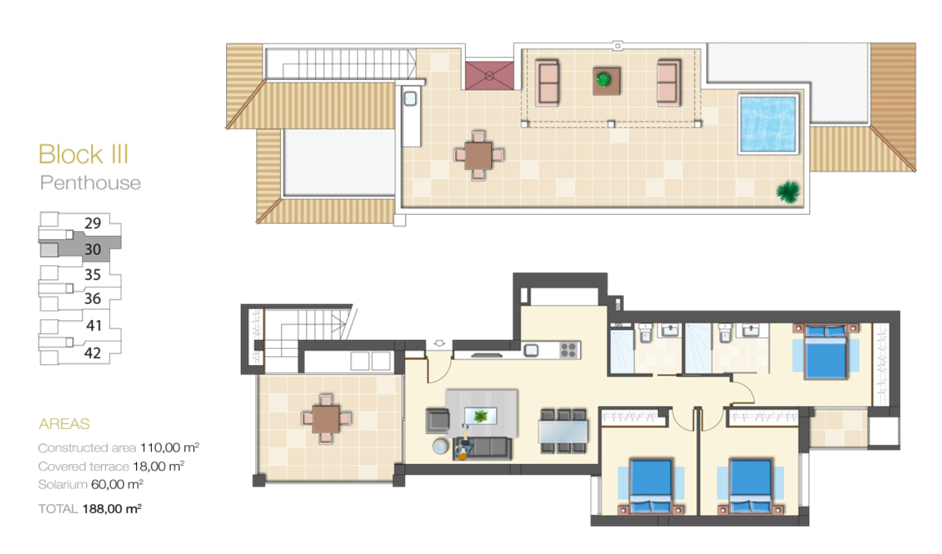 FLOOR PLANS. Marjal Beach 30